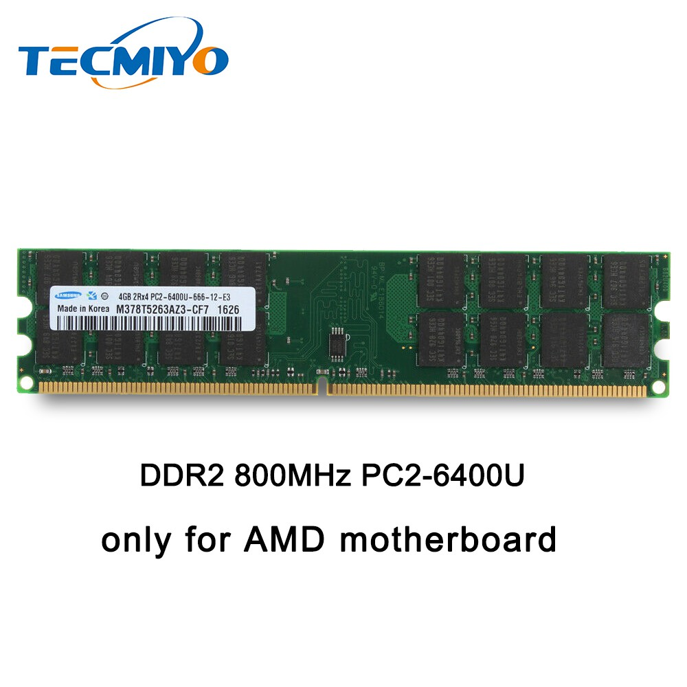 New Samsung 4GB PC2-6400 DDR2 800Mhz 240 High Density AMD Desktop Memory RAM