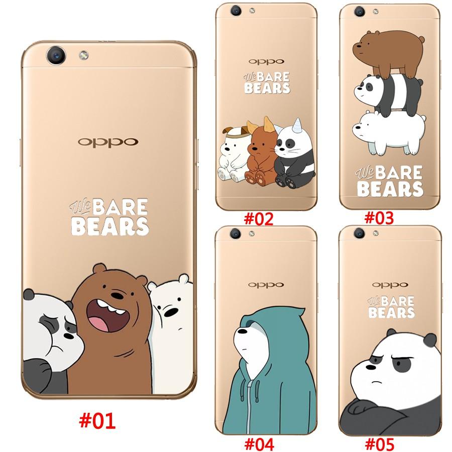 OPPO F7 F1S R9S R9/F1Plus Case We Bare Bears Pattern Casing