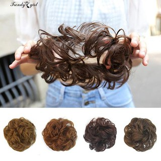 Nice!!! Messy Wavy Hair Bun Extension Elastic