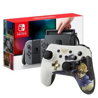 Nintendo Switch Grey W/ Zelda Wired Power A controller