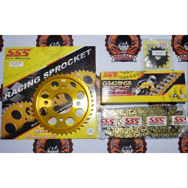 SSS 15 40T 415 Sprocket and Chainset for RS150