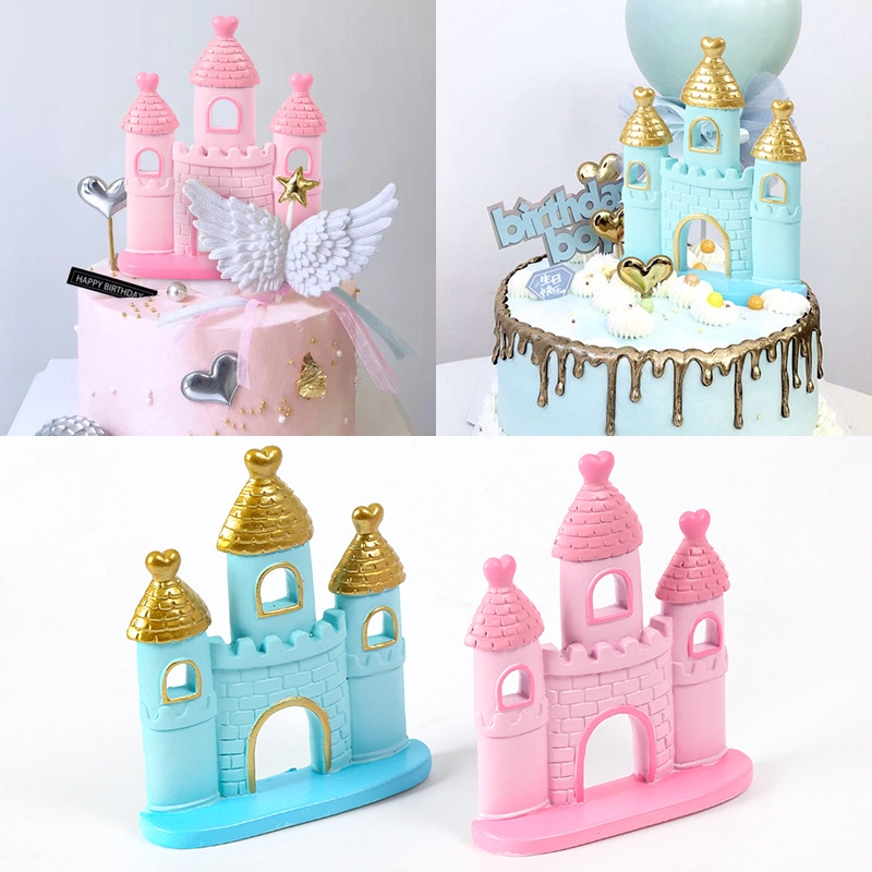 Brilliant Love Dream Castle Cake Topper Wedding Baby Shower Birthday Party Funny Birthday Cards Online Inifofree Goldxyz
