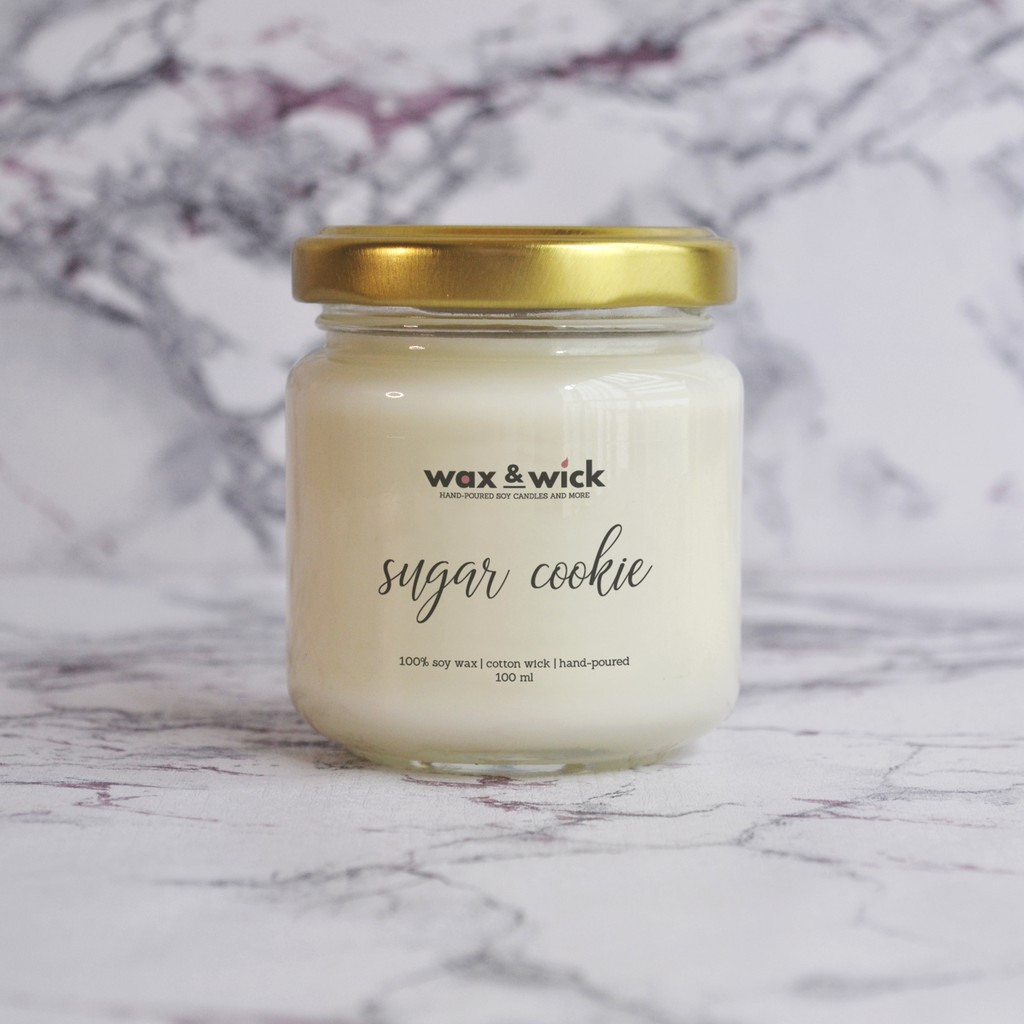 Sugar Cookie Vanilla Scent Soy Scented Candle 100 Ml Shopee Philippines