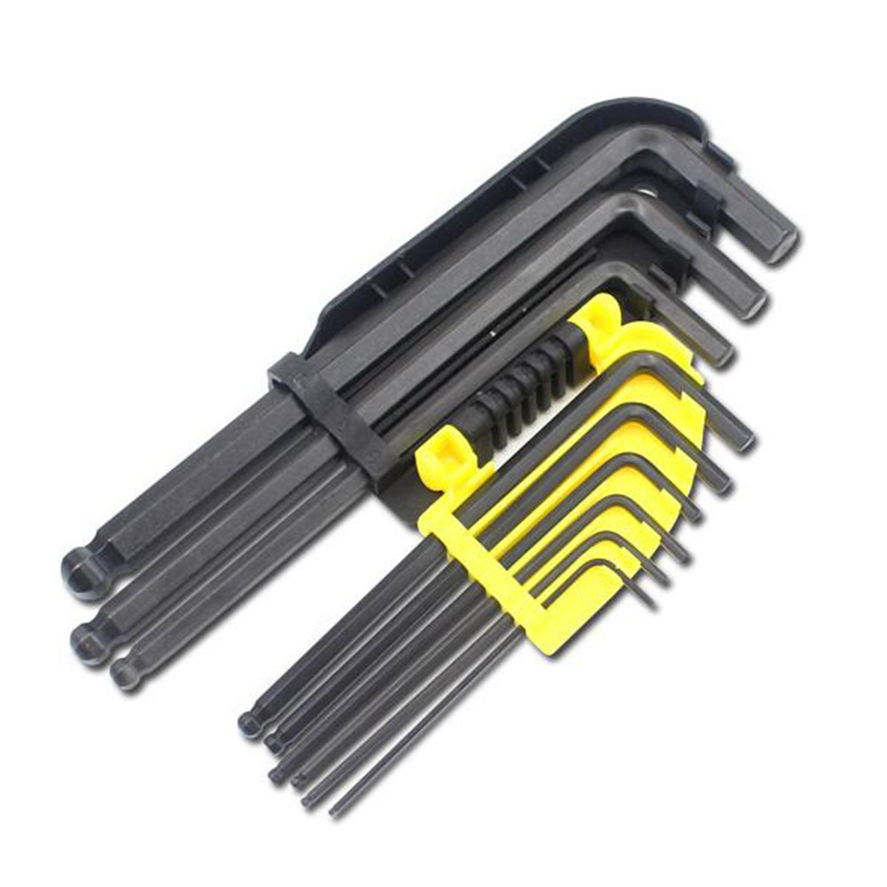 Steel L Shaped Metric Allen Key Hex Long Arm Wrench Ball End Head 4mm 5mm 6mm