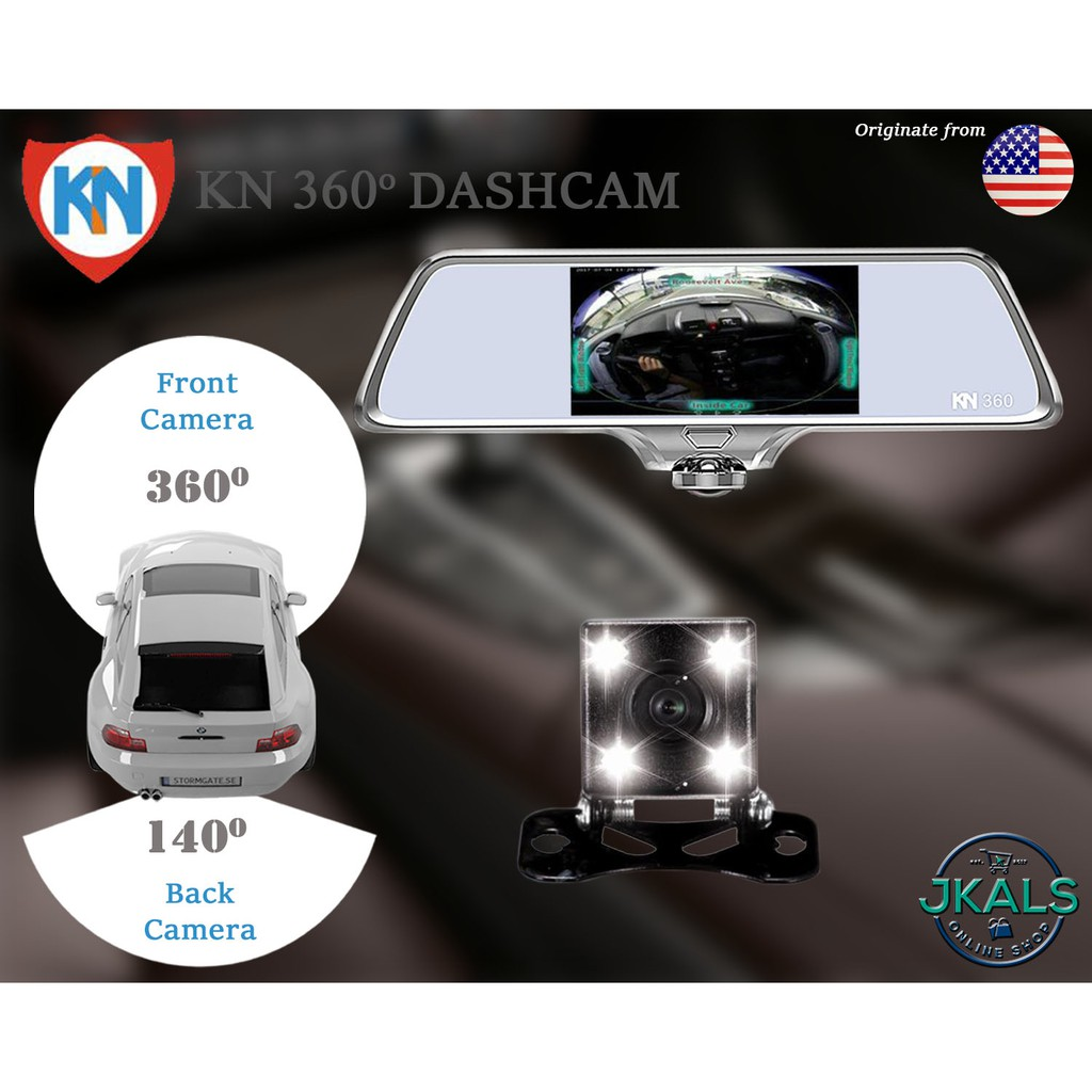 kn knight international dash cam 360 shopee philippines. Black Bedroom Furniture Sets. Home Design Ideas