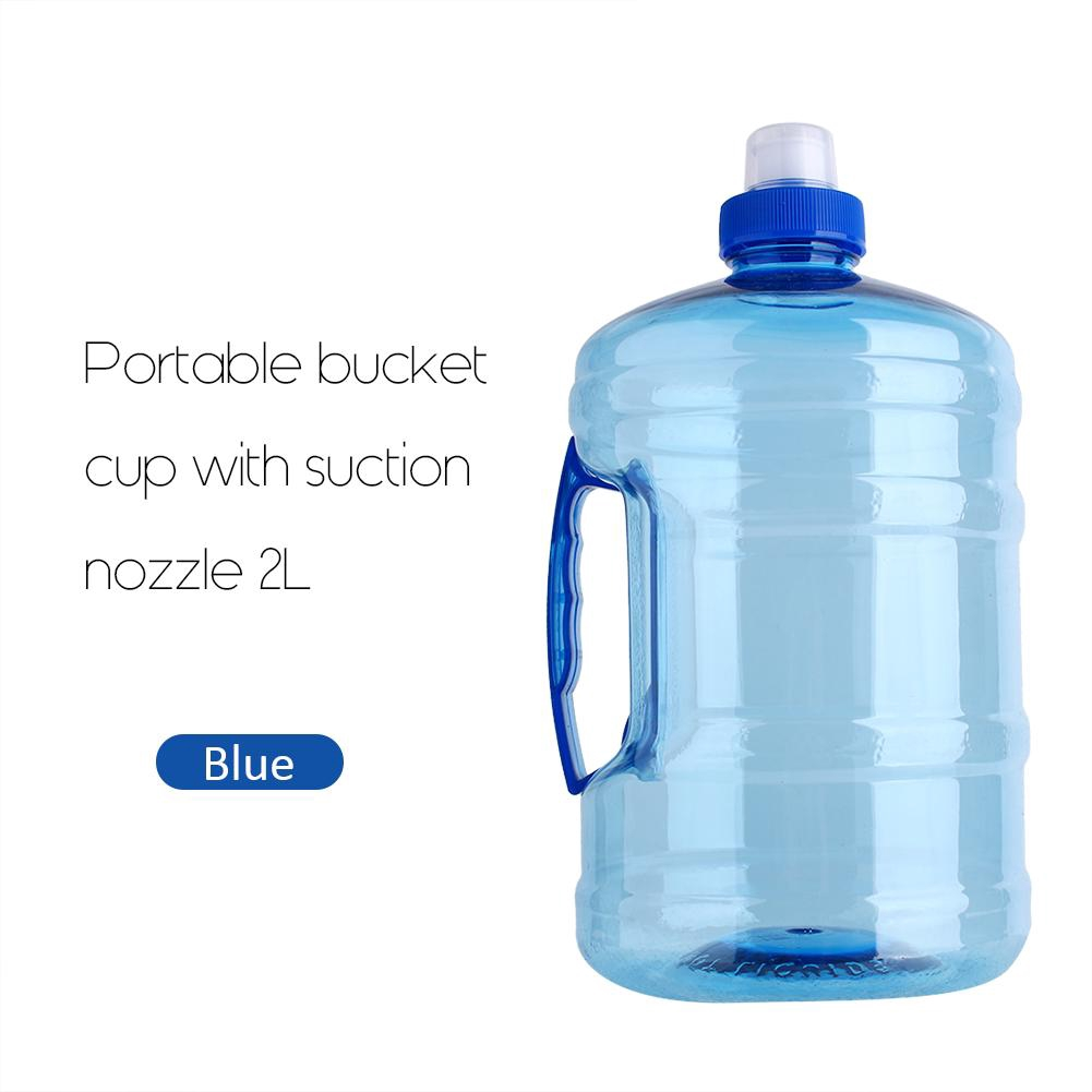 1L Outdoor Portable Bucket Cup With Suction Nozzle Sport Camping Water Bottle