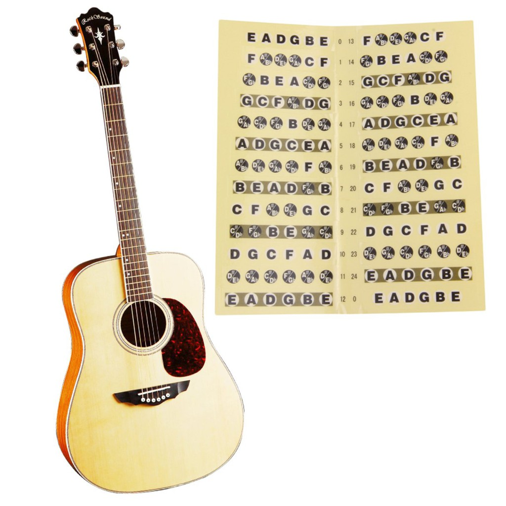 Guitar Parts & Accessories Guitar Fretboard Notes Map Labels Stickers Decals Fret Fingerboard For 6 String Acoustic Electric Guitar Musical Instrument Part Sports & Entertainment