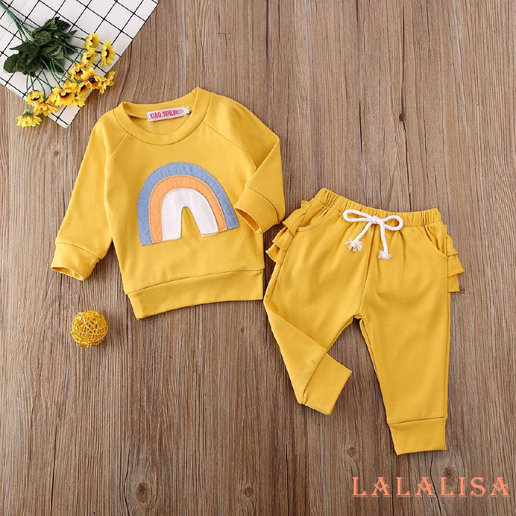 Newborn Kid Baby Girl Floral Long Sleeve Tops Pants Leggings Clothes Outfits NEW