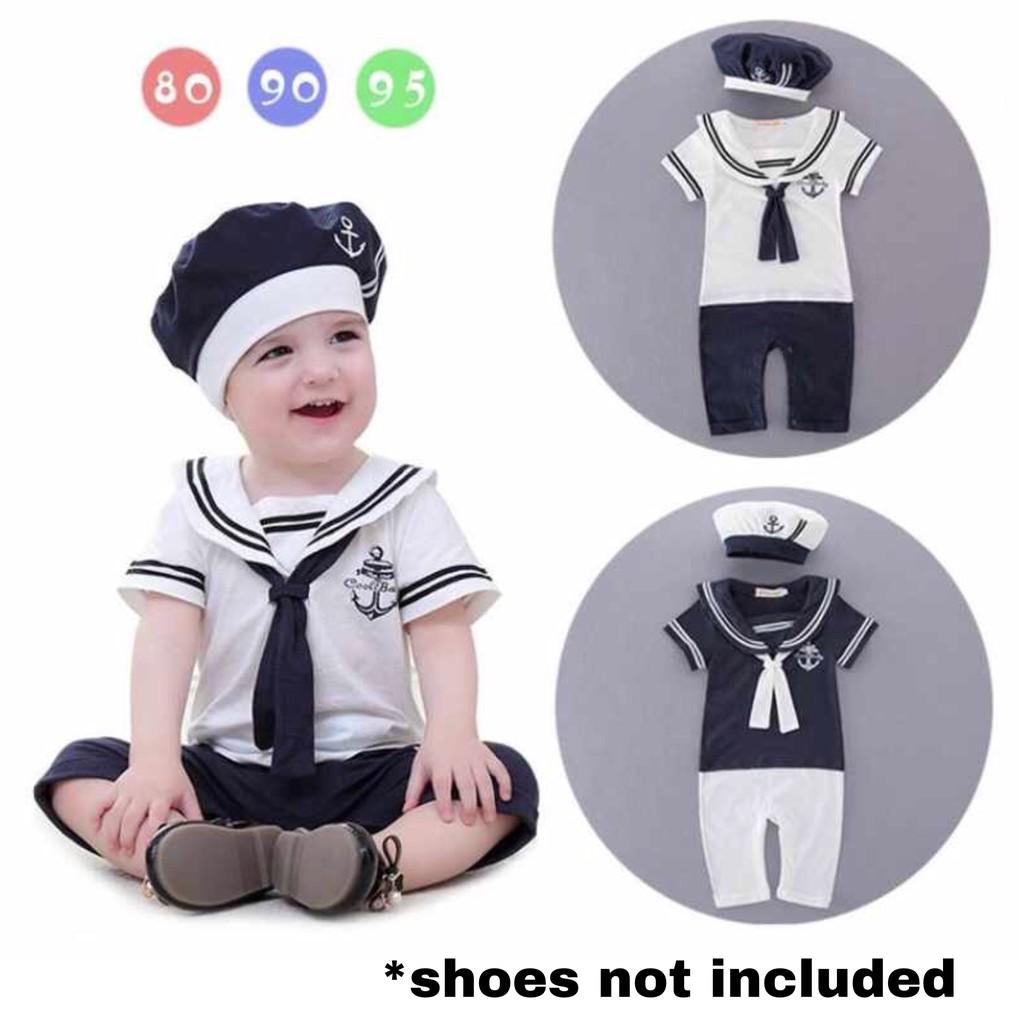 382d57390 cod Captain   Sailor   Marine Baby Romper w  embroider