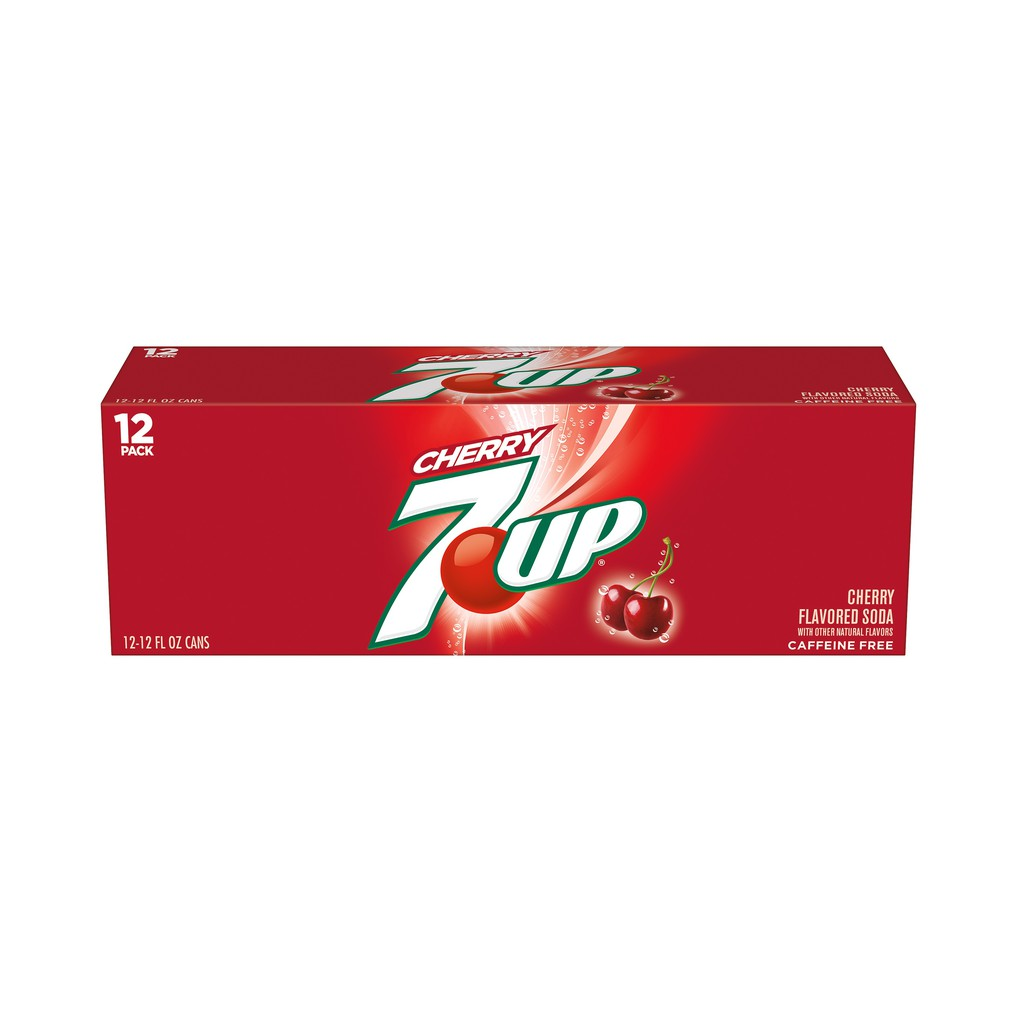 7up Cherry Flavored Soda 12 Cans