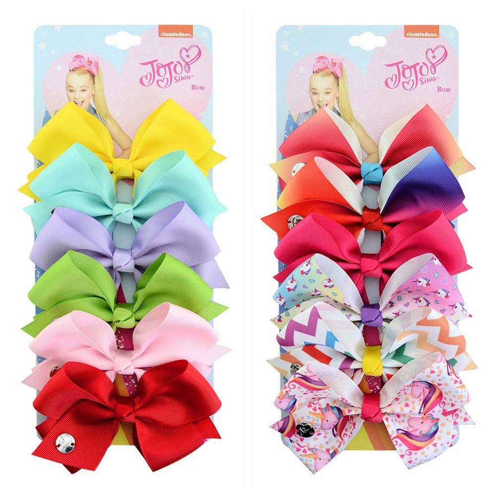 8 Inch Large Ribbon Hair Bow Hair Clips For Girls Dance Party Cheer Bow Fashion
