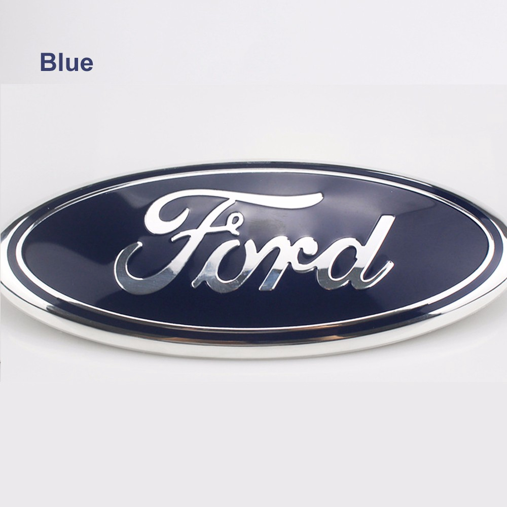 FORD DECAL OVAL Outdoor Decal WHITE 30 X 11.5 HOLLOW OVAL