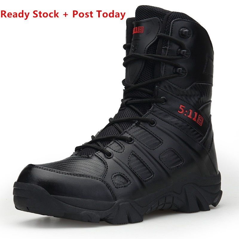 c1ee29fa934 Army Men Tactical Outdoor Hiking High Top Combat Swat Boots