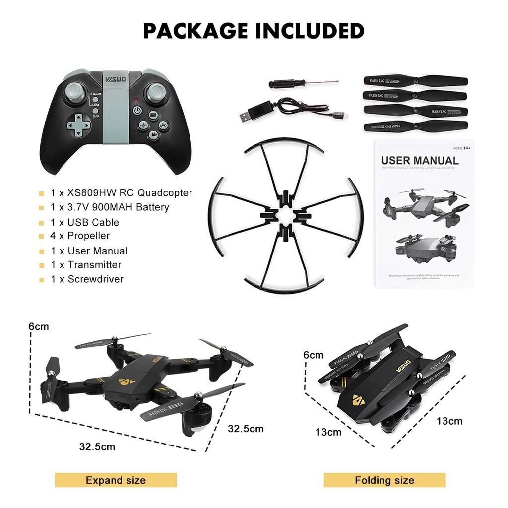VISUO XS809HW FPV High Hold Quadcopter RTF | Shopee Philippines