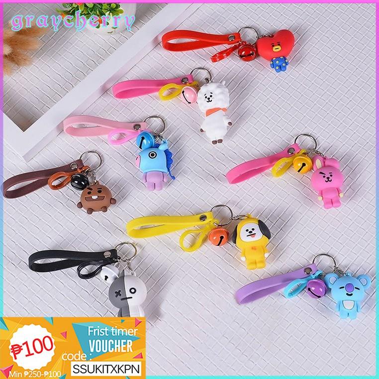 Kpop Bangtan Boys ARMY BTS BT21 Cartoon Cute Keychain Doll