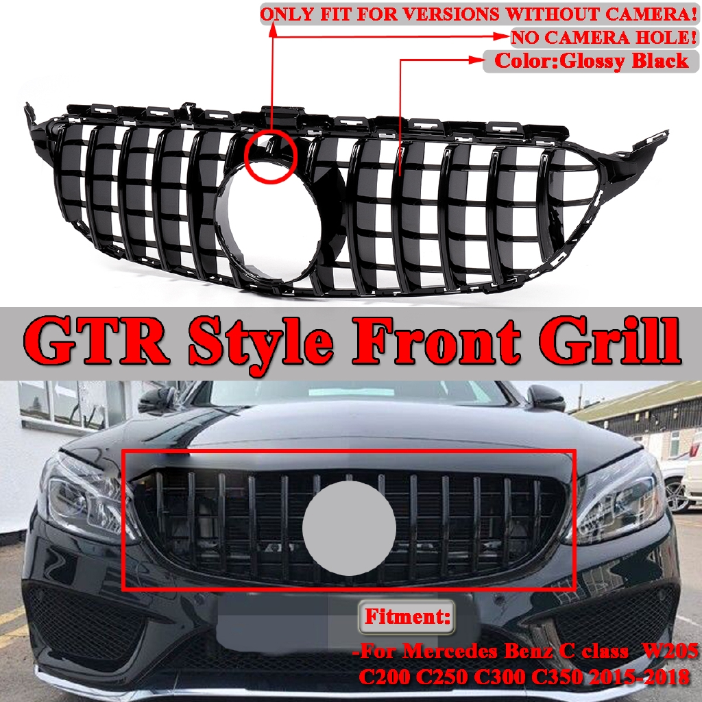GT R Style Front Grille Grill Bumper For Mercedes Benz C
