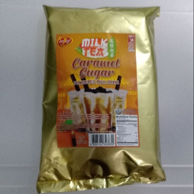 Injoy Caramel Sugar Milk Tea Powder / Powdered Milk Drink