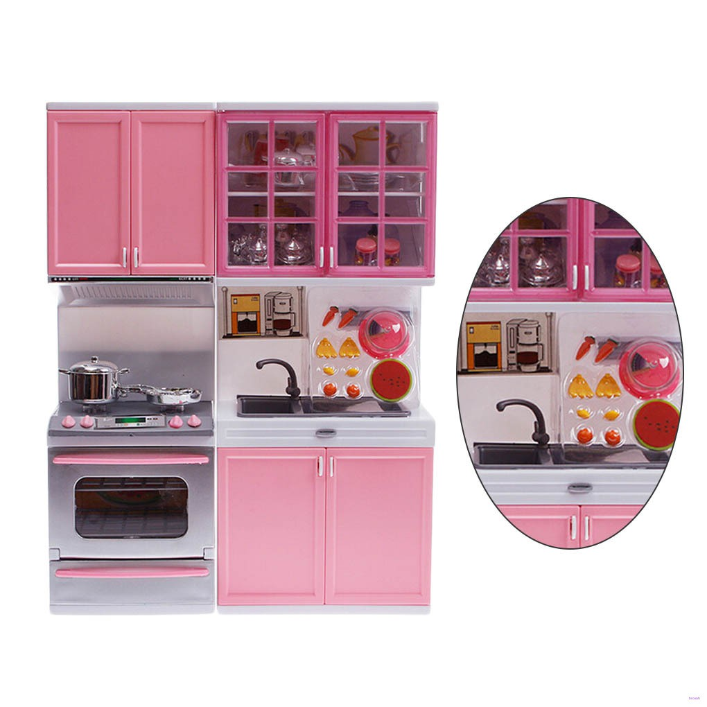 Kids Role Play Kitchen Set Pretend Play Cooking Utensils Children Lights Sounds Realistic Kitchen Early Learning Toys Broxah Shopee Philippines