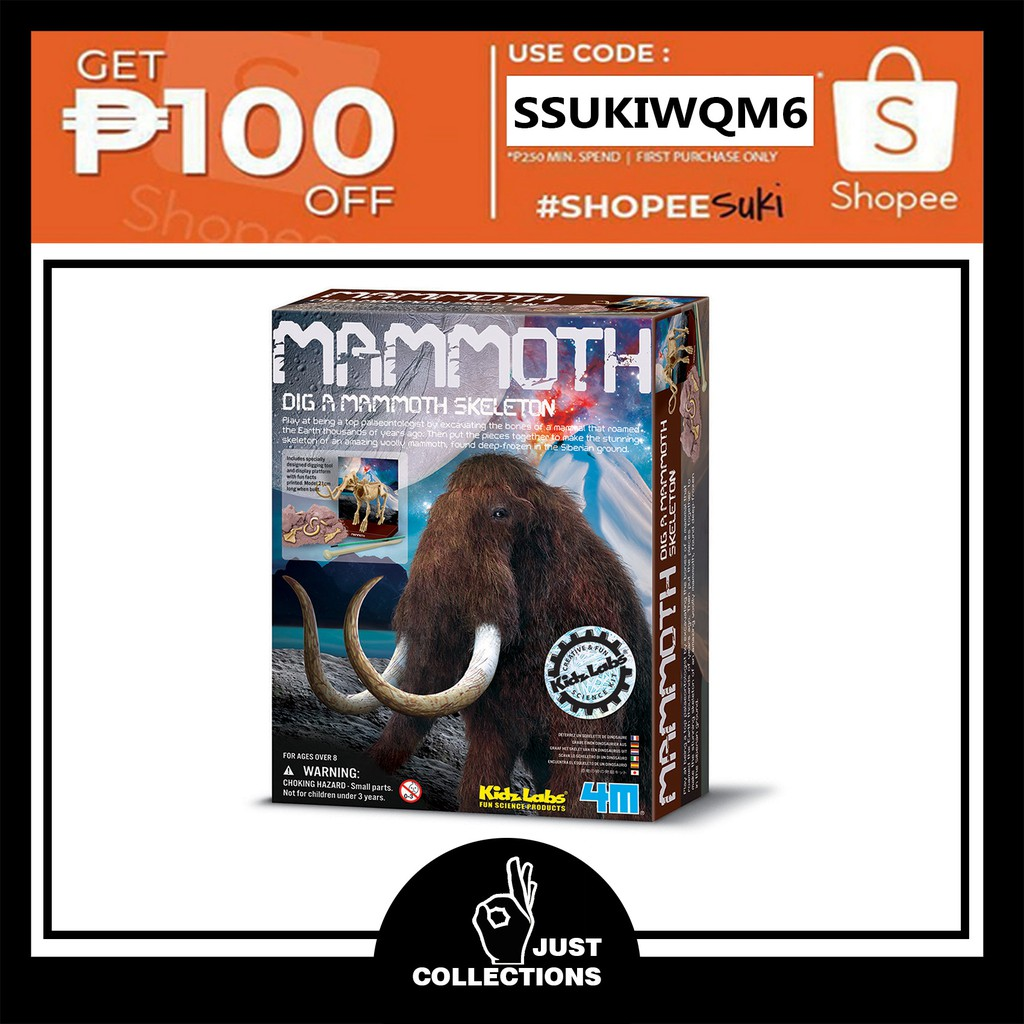 DIG A MAMMOTH SKELETON Science Experiment Toy