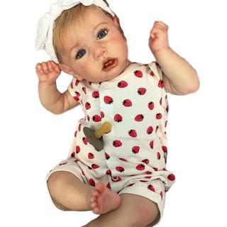 22/'/' Realistic Reborn Dolls Soft Silicone Vinyl Handmade Baby Toy Girl Xmas Gift