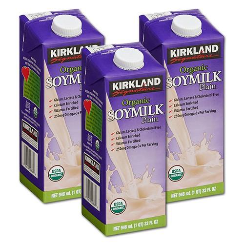 Kirkland Signature Organic Plain Soy Milk 0 94litre | Shopee