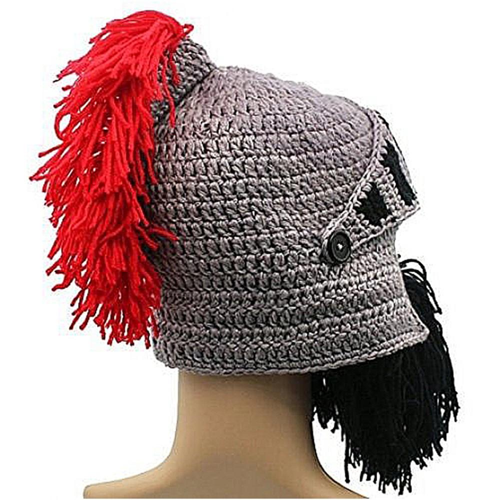 cc286d681e1 Child Roman Knight Gladiator Helmet Knit Wind Mask Beanie Hat Cap ...