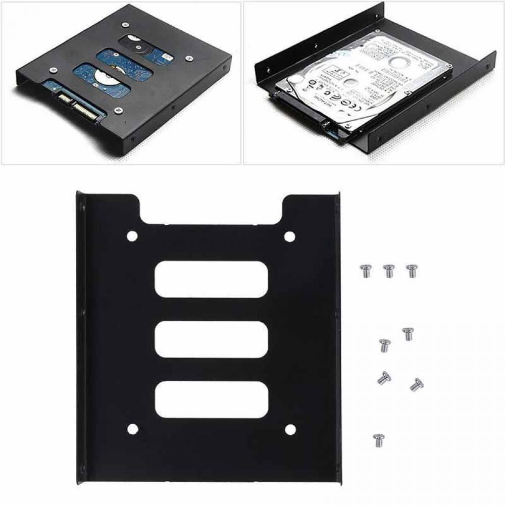 25 Inch To 35 Ssd Hdd Hard Drive Tray Mounting Bracket Kit Disk Selector Adapter For Pc Shopee Philippines