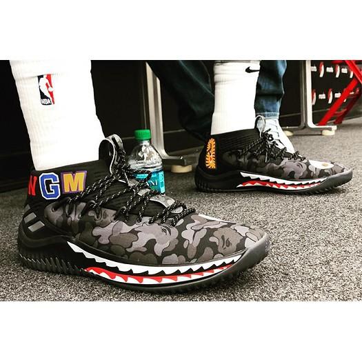 94f5591e ProductImage. ProductImage. Adidas Damian DAME 4 x BAPE Shark Black Camo  Lillard Camo Shoes