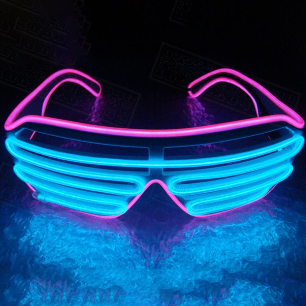 f70f7cde69 LED Glasses Light Up Shades Flashing Rave Party Glasses