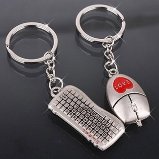 1Pair Couples Keyring Set Heart Love Mouse and Keyboard Key Ring Lover  Gifts Creative Romantic Gift  8814aeebf65d
