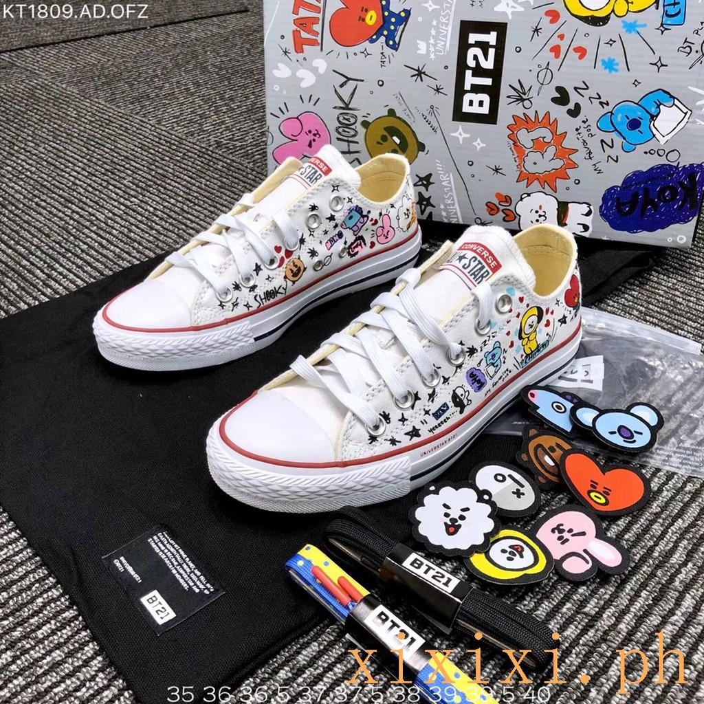 Darse prisa Contribución Gracias  Original Converse X BT21 Women Men Canvas Board Shoes | Shopee ...