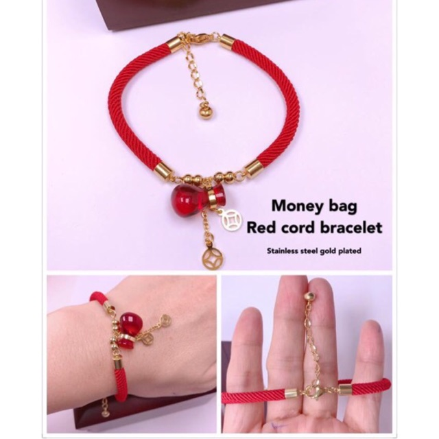 Bracelets & Bangles Charm Bracelets Candid New Red Hand Rope Couple Bracelet Gold Stainless Steel Ball Black Milan Rope Adjustable Bracelets For Men And Women Jewelry Gift