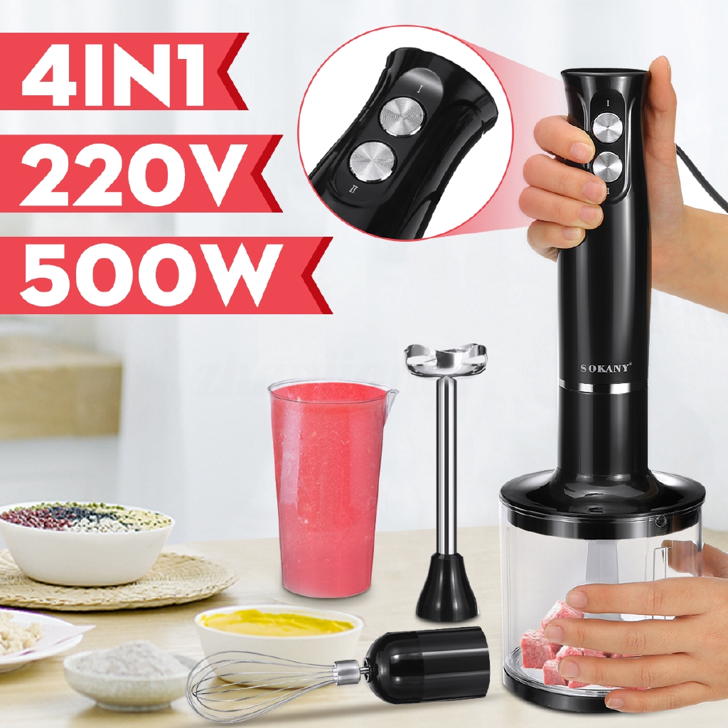 Kitchen Hand Mixer Electric Immersion Blender Hand Mixing Egg Beaker Milk Frother Shopee Philippines