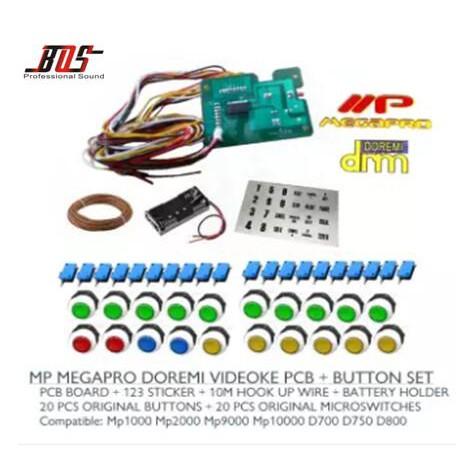 PCB Remote + Button Set For Videoke Machine MP MEGAPRO DOREM
