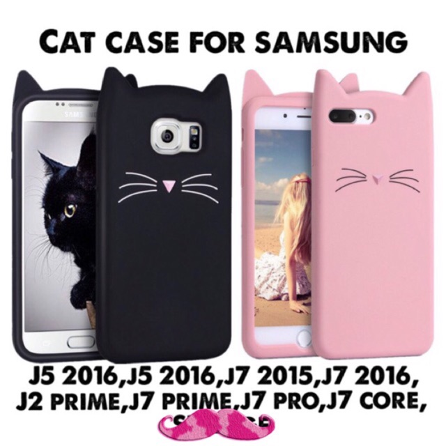 new photos 37c58 f8ba3 Cat Case for Samsung J2 J7 2015 2016 Prime Core
