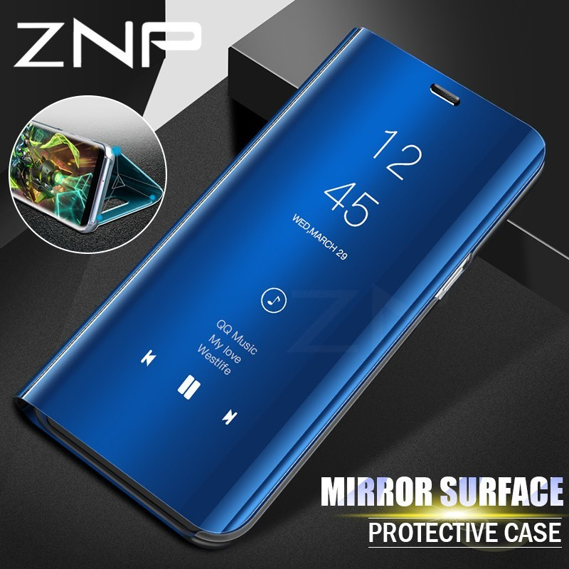 Clear View Leather Flip Mirror Case Cover For Samsung Galaxy j7 prime | Shopee Philippines