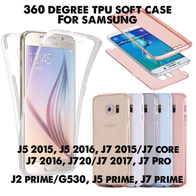 SAMSUNG J7 CORE 360 FULL COVER CASE WITH TEMPERED GLASS | Shopee Philippines