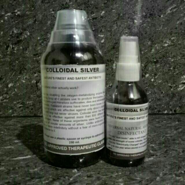 colloidal silver 250ml + free 60 ml cs spray