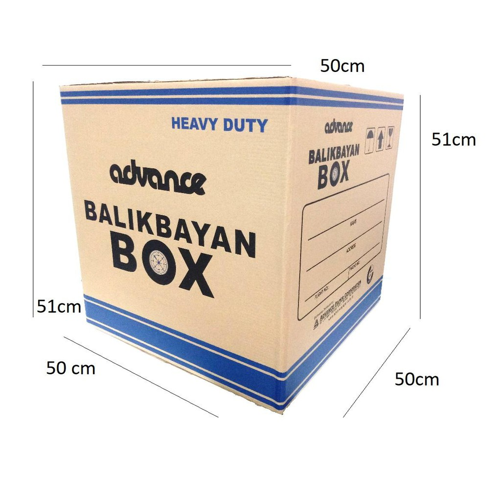 3pcs Pieces Heavy Duty Balikbayan Box Storage Box