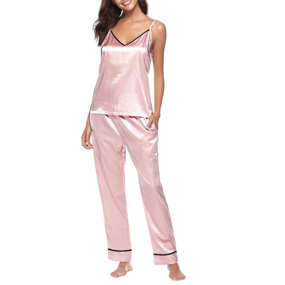Ladies Black Cotton Pink Lace Trim Short Sleeve Pyjamas Top ONLY Nightwear 8-12