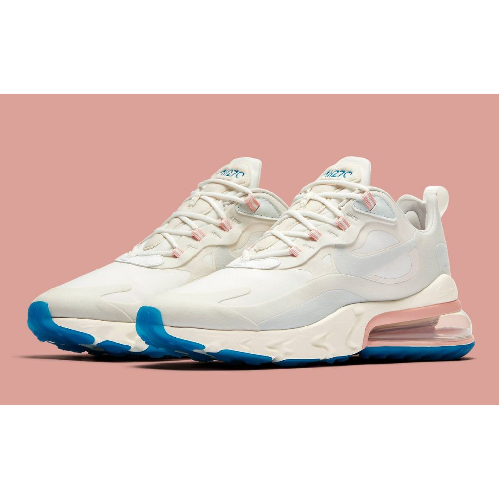 Nike AirMax 270 React White Off Pink Blue (OEM) Authentic Quality