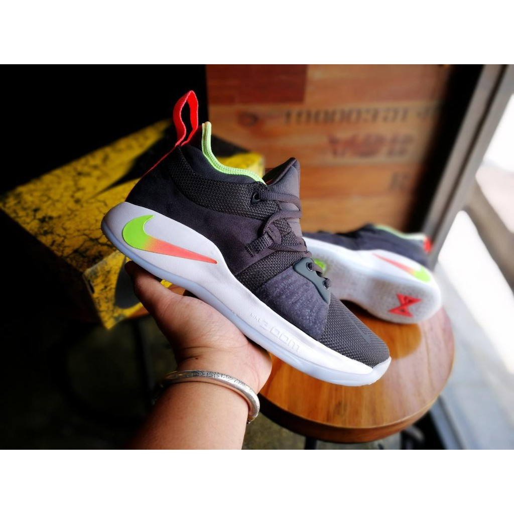 80158321a14c Nike PG 2 Hot Punch Paul George Wolf Grey Lime Blast