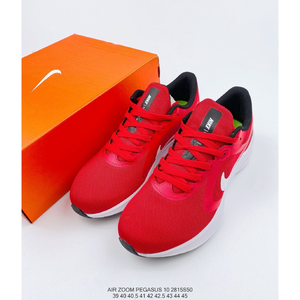 metal Procesando Marchitar  original] NIKE Air Zoom Pegasus 10 Running Shoes Men Sports Sneakers Red  White Size:39-45 | Shopee Philippines