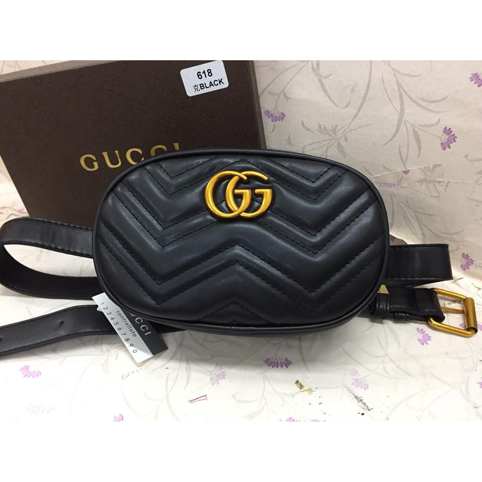 5110fe637 Gucci Marmont Belt Bag | Shopee Philippines