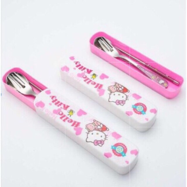 1d696b9ea Hello Kitty 3 in 1 Cutlery Set Tableware Fork | Shopee Philippines