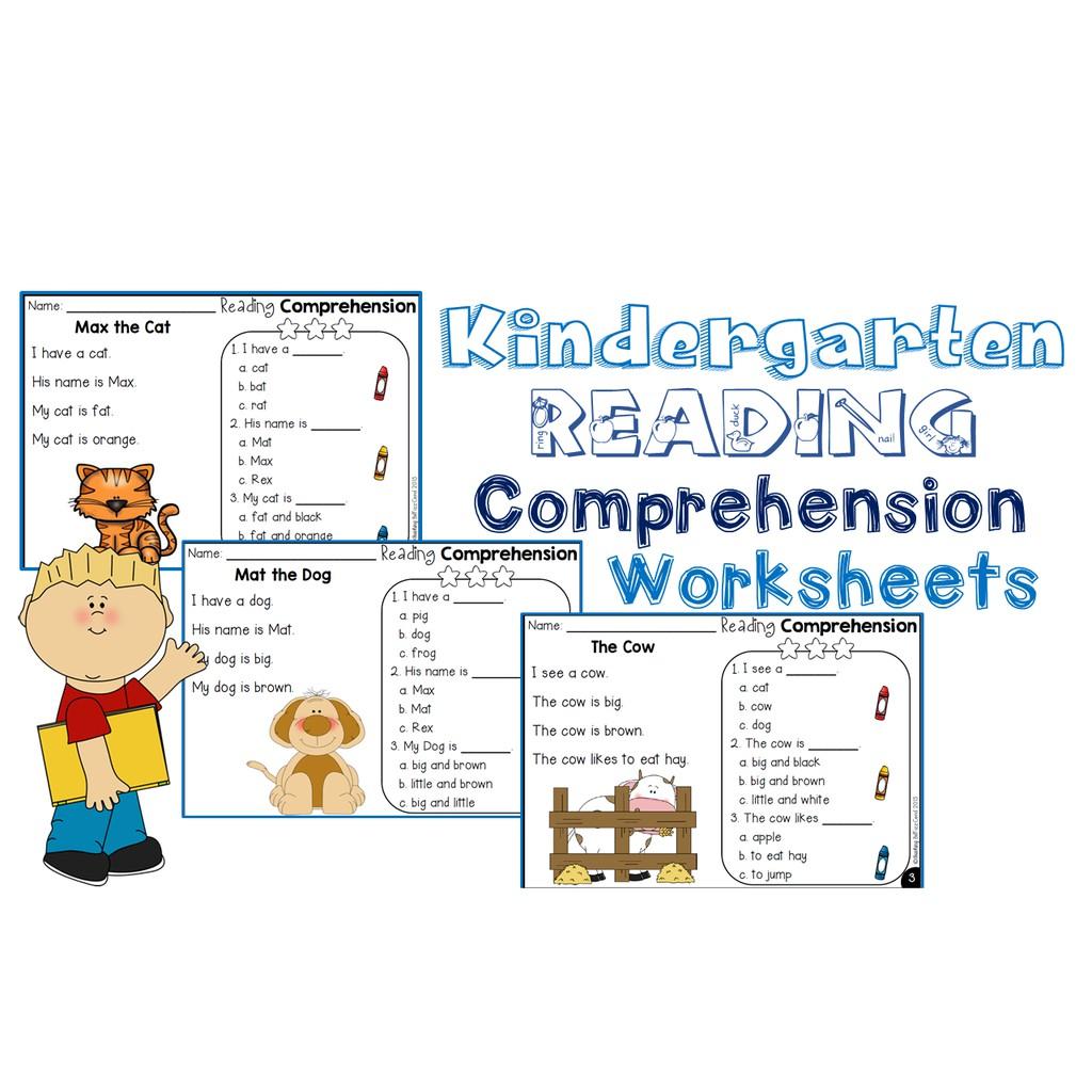 - Kindergarten Reading Comprehension Workbook Shopee Philippines