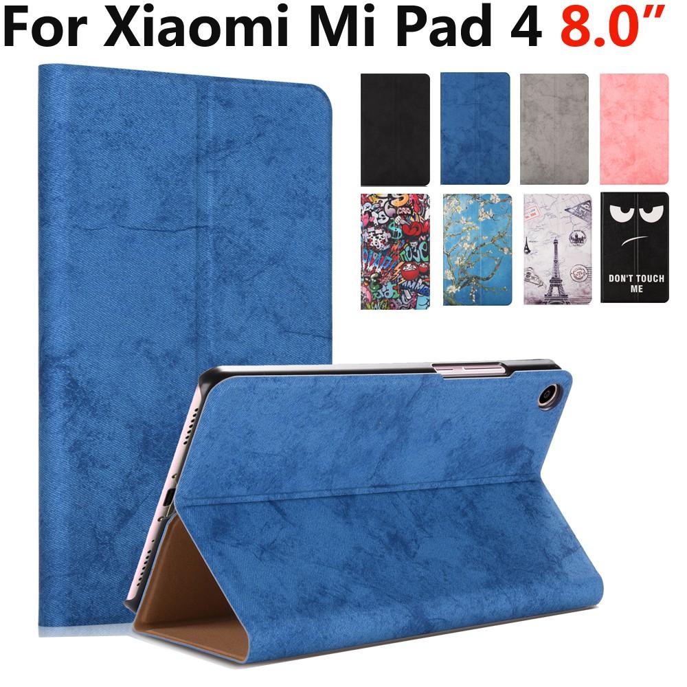 on sale 83f3d 54e01 Xiaomi Mi Pad 4 Mipad 4 8 inch 2018 Slim Pattern Smart Case