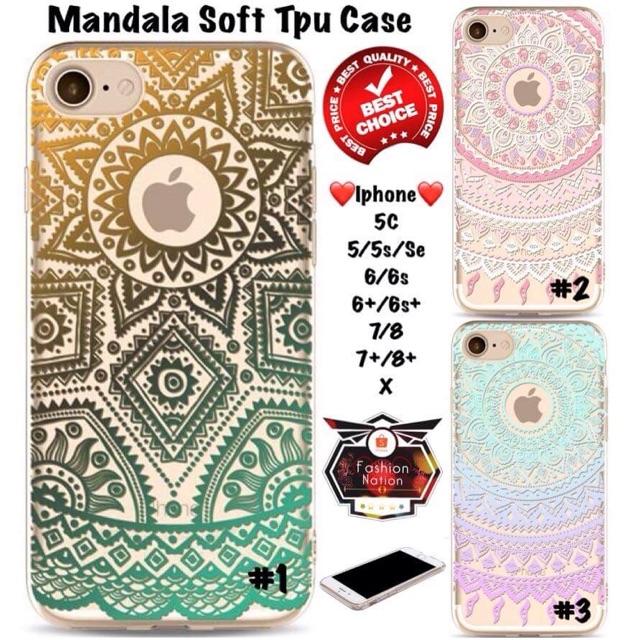 reputable site 8ba10 1ebbf Mandala Soft TPU iPhone Case 5C 5 5s SE 6 6s 7 8 Plus X 4 4s