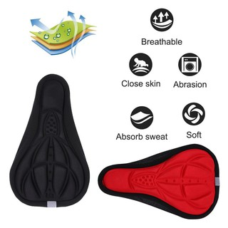 Sports Comfortable Soft Bike Seat Pad Cycling Silicone Saddle Cover Gel Cushion
