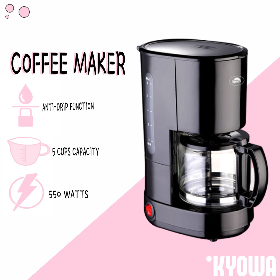 Kyowa Kw 1220 Personal Coffee Maker 5 Cups Coffee Maker Machine Coffee Maker Expresso Coffee Maker Shopee Philippines